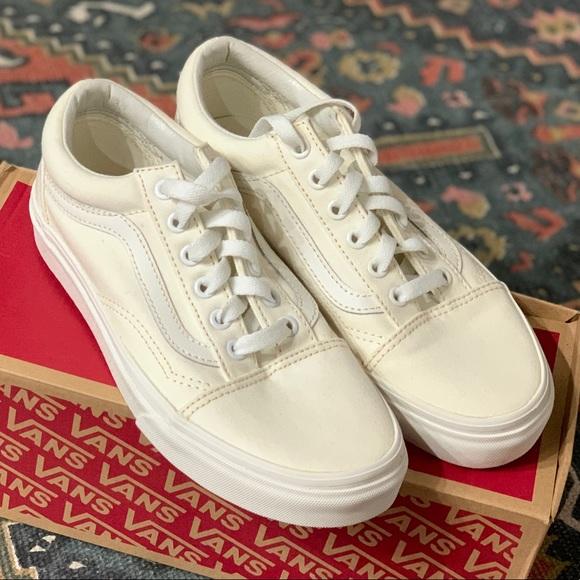 old skool vans blanc